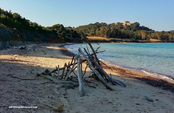 """by the beach - hiking or biking in Porquerolles"""
