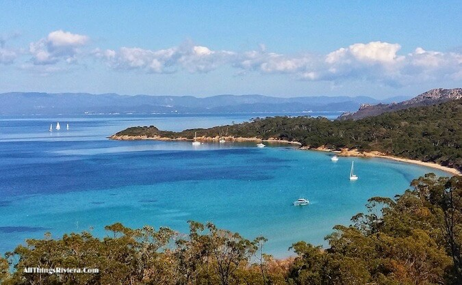 """overlooking the bay -hiking or biking in Porquerolles"""