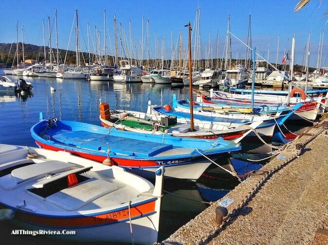 """getting to the harbour to go hiking or biking in Porquerolles"""