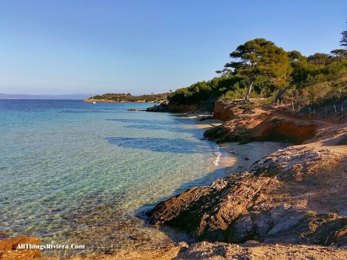 """along the beach hiking or biking in Porquerolles"""