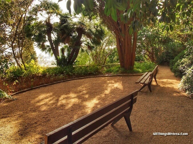 """benches in an Idyllic Garden"""
