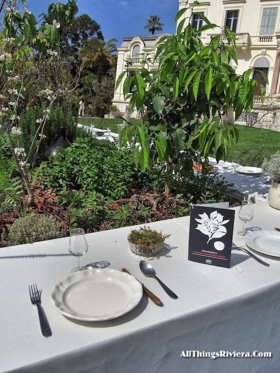 """Banquet theme for Cannes garden for the Very First French Riviera Garden Festival"""