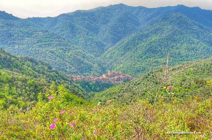 """great views from a lovely spring hike on the hills of Liguria"""