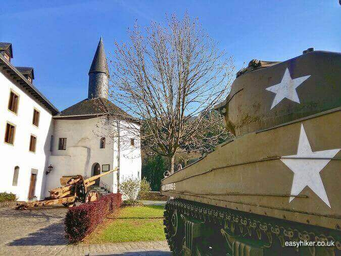 """""""tanks on the grounds of Clervaux Castle - Liberation and Remembrance in Europe"""""""