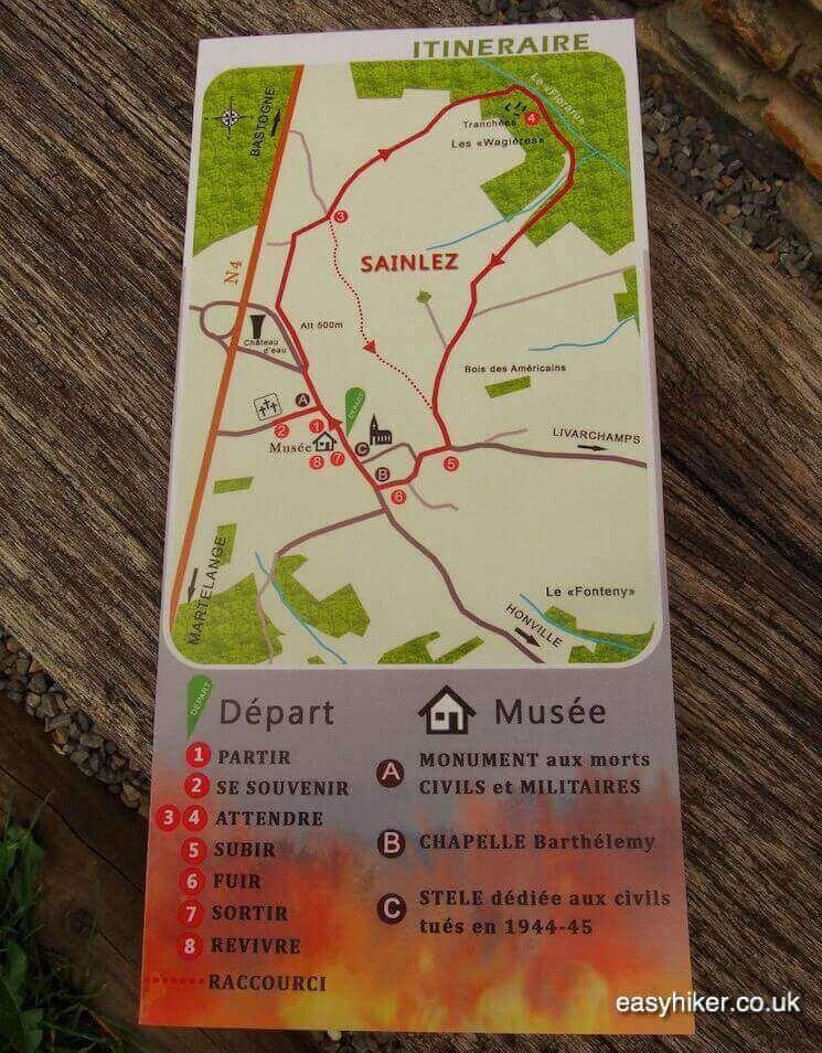 """""""Map of Walk in Sainlez - Fame of Bastogne"""""""