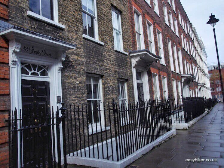"""18 Rugby St in BloomsburyWriters Quarter of London"""