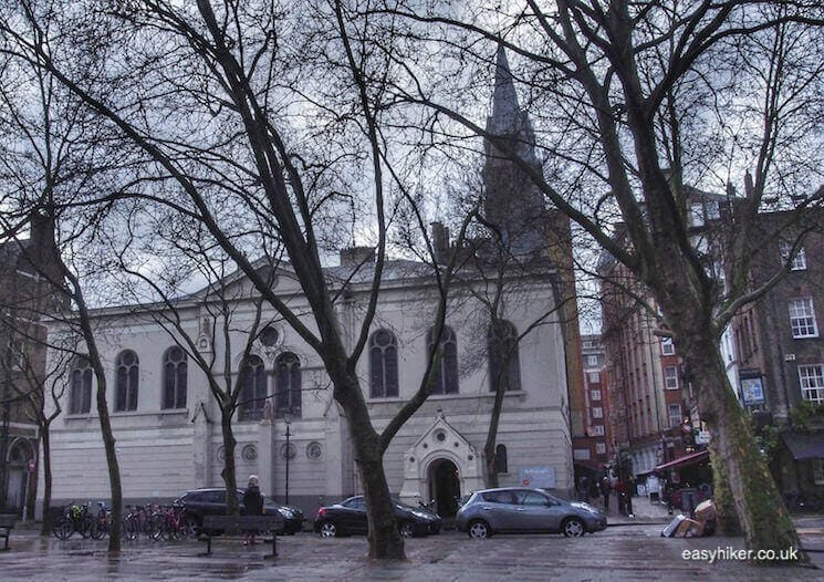 """St George the Martyr Church in BloomsburyWriters Quarter of London"""
