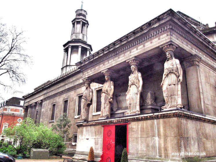 """Caryatids in BloomsburyWriters Quarter of London"""