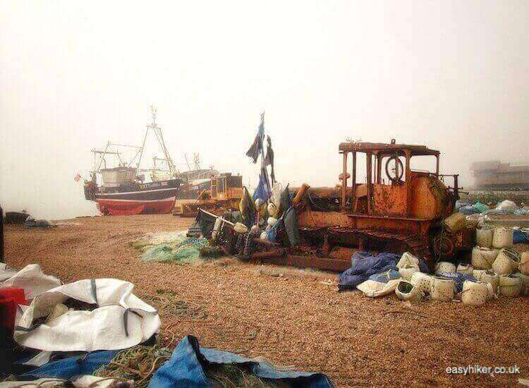 """The boats of the fishermen of Hastings"""