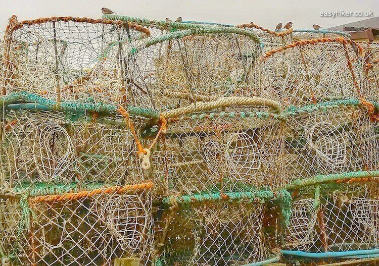 """net fishing baskets of the fishermen of Hastings"""