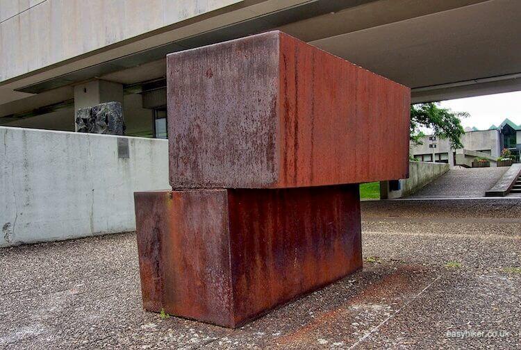 """unbalanced steel blocks - Modern Sculpture in Public Spaces"""