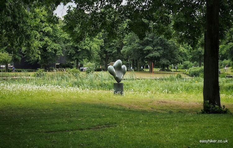 """""""Reposing Leaf sculpture in Marl - Modern Sculpture in Public Spaces"""""""