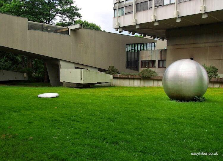 """Steel ball in Marl - Modern Sculpture in Public Spaces"""
