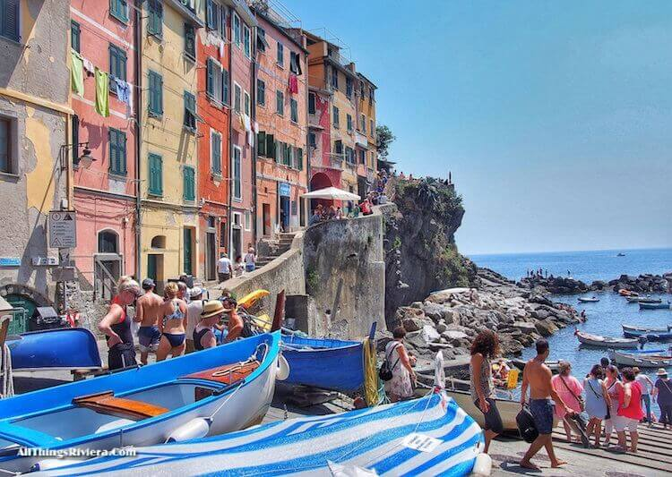 """tourist packed Corniglia - Easy Hiking Experience and More in Cinque Terre"""