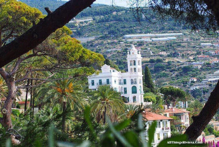 """Villa Garnier seen en route to the Palm Trees of Bordighera"""