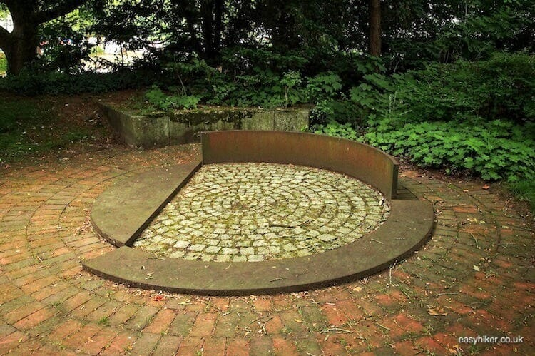 """concentric circles in Marl -Modern Sculpture in Public Spaces"""