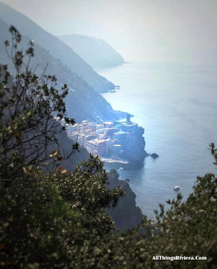 """view of Vernazza from trail - tips for Easy Hiking Experience in Cinque Terre"""