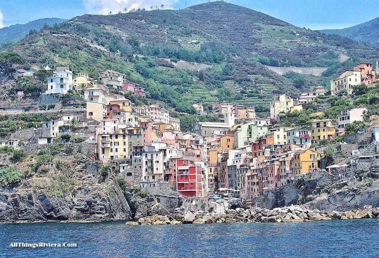 """approaching Riomaggiore by ferry - Easy Hiking Experience and More in Cinque Terre"""