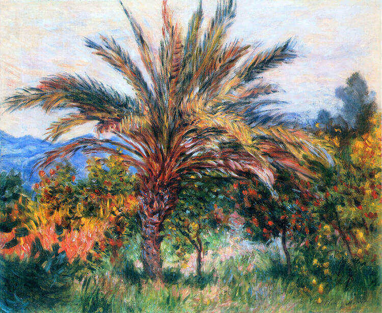 """Palm Trees of Bordighera as painted by Monet"""
