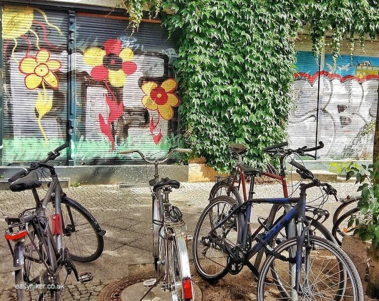 """more wall art and bikes - spirit of Bohemian Berlin"""