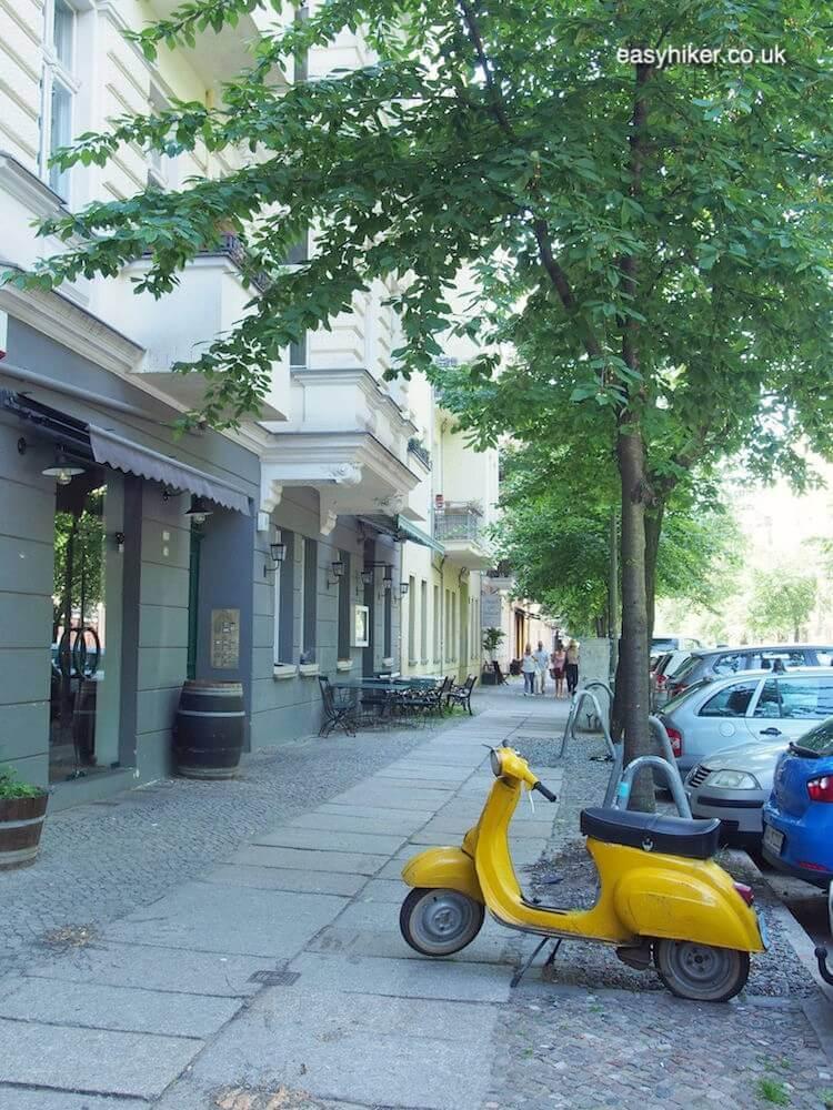 """""""old vespa on a tree lined street - spirit of Bohemian Berlin"""""""