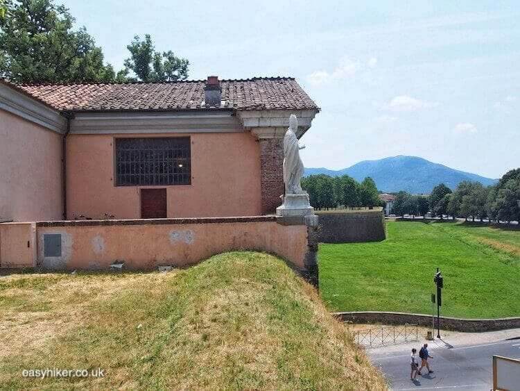 """bastion to bastion on a Walk Along the Lucca Wall"""