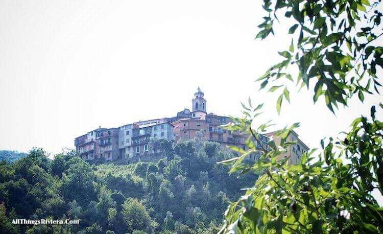 """""""Castel Vittorio seen from Pigna on the easiest of easy hikes in Liguria"""""""