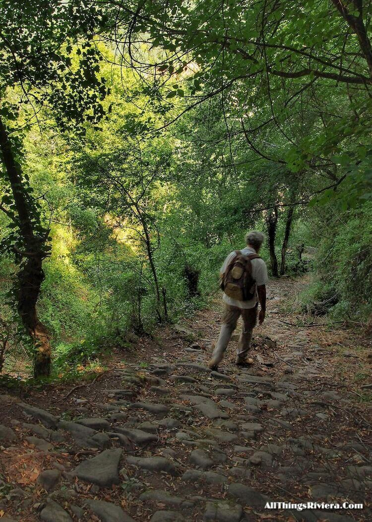 """""""trail from Castel Vittorio to Pigna -easiest of easy hikes in Liguria"""""""