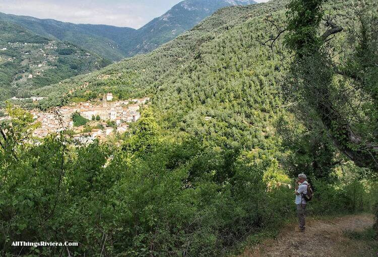 """""""Pigna seen from trail - easiest of easy hikes in Liguria"""""""