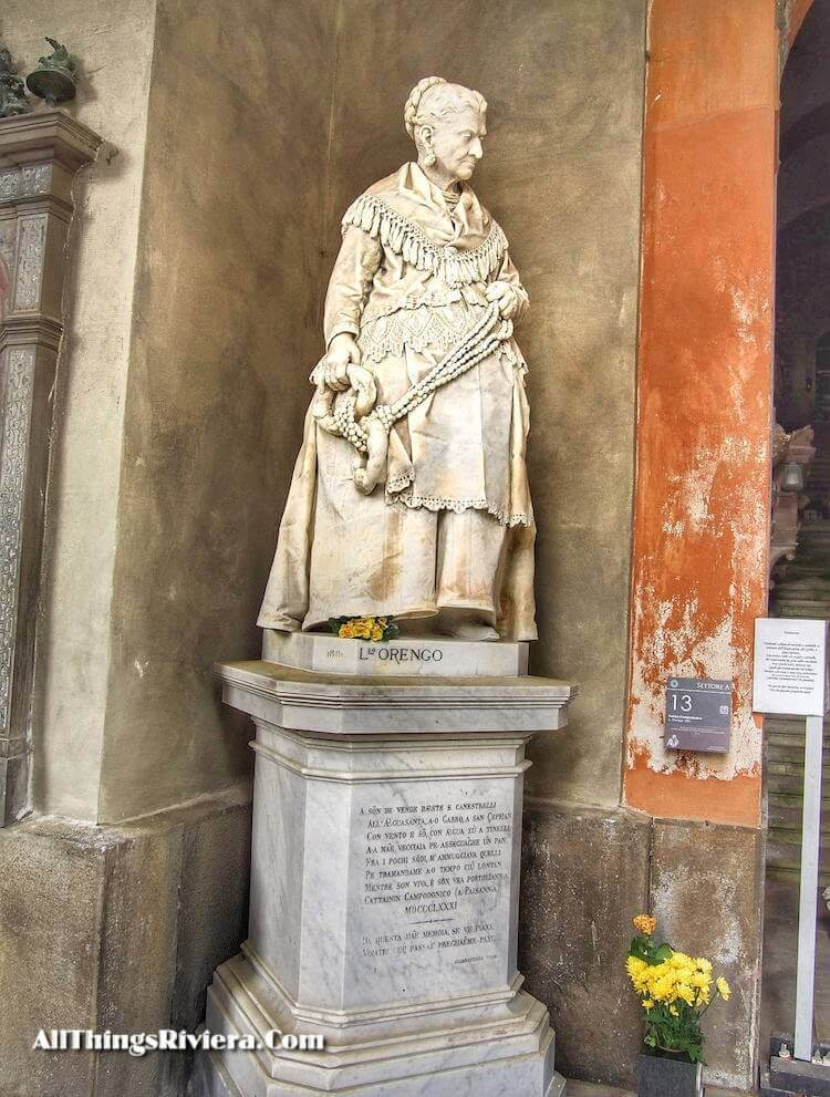 """""""grave of Caterina Campodonico in Staglione - Cemetery as One of the Wonders of the World"""""""