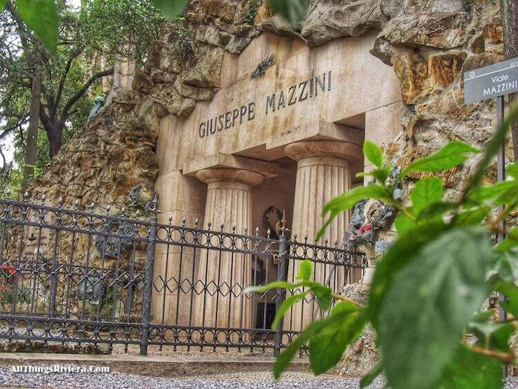 """""""Guiseppe Mazzini grave in Staglione - One of the Wonders of the World"""""""