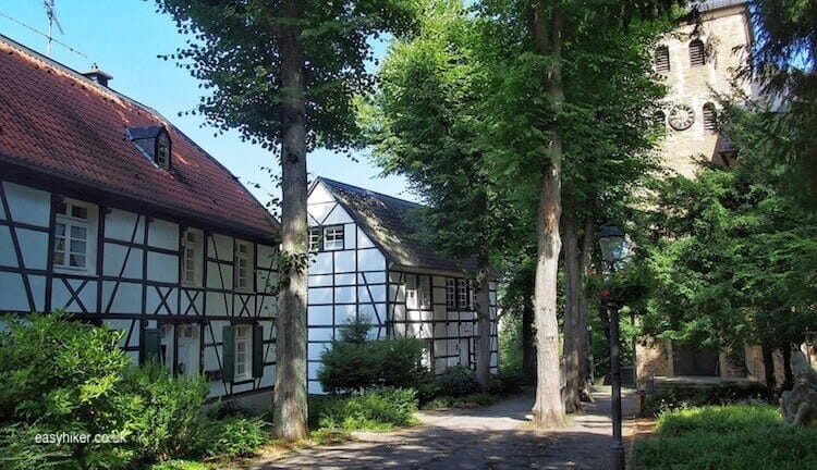 """village of Rellinghausen where once they drown witches"""