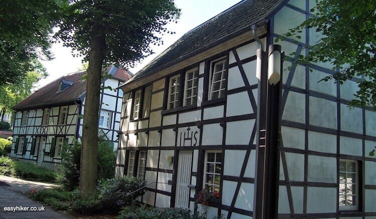 """half/timber framed houses in Rellinghausen where once they drown witches"""