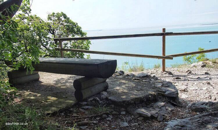 """bench to rest when walking with Rainer Maria Rilke in Trieste"""