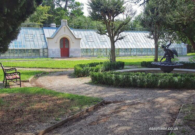 """""""luxury greenhouse in the eclectic Miramare Gardens"""""""