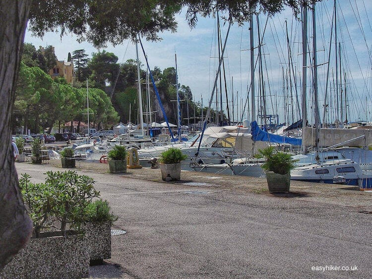 """lunch by the marina near the eclectic Miramare Gardens"""
