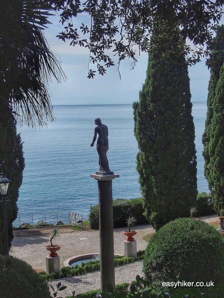 """""""statue overlooking the sea in the eclectic Miramare Gardens"""""""