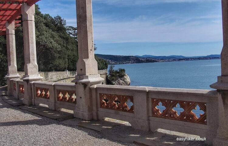 """views of the sea in the eclectic Miramare Gardens"""