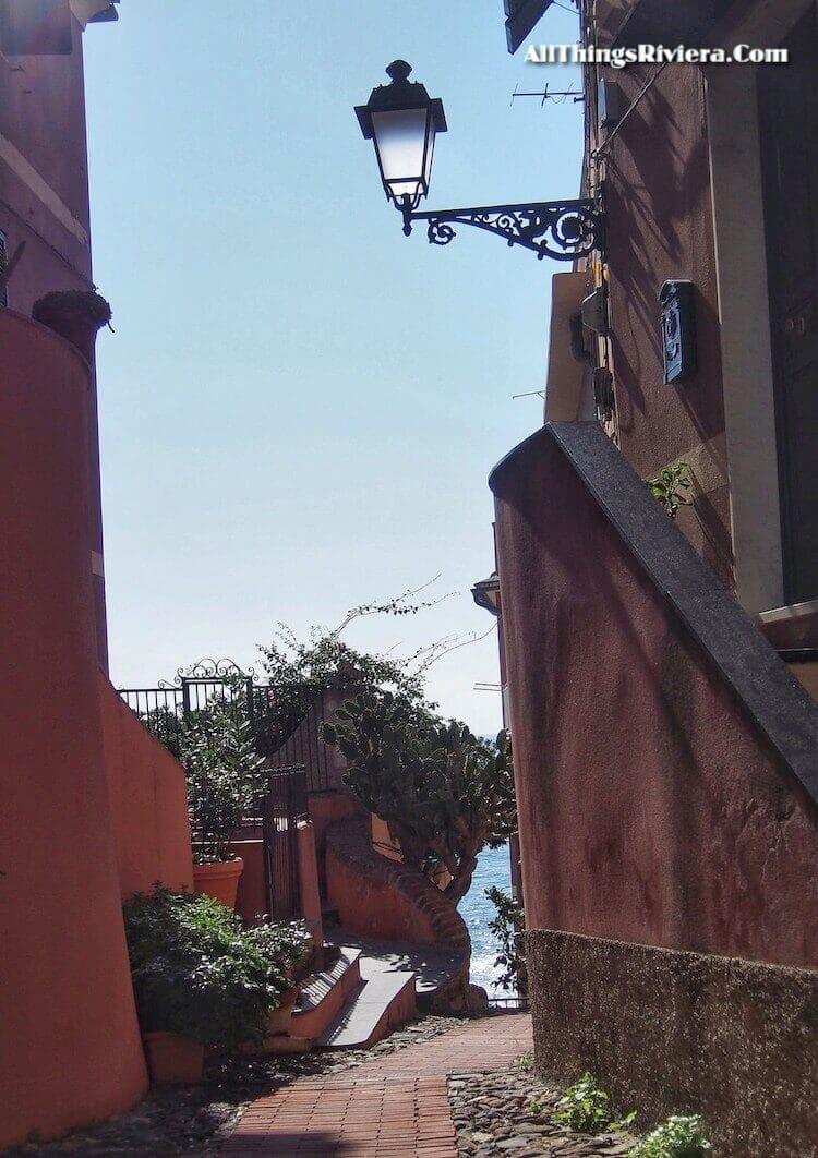 """interesting street angle in Boccadasse"""