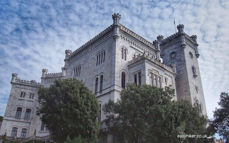 """""""palace in the in the eclectic Miramare Gardens"""""""
