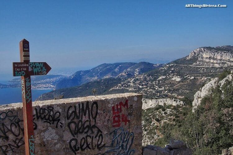 """""""view of French Riviera on hike to summit of Tete de Chien"""""""