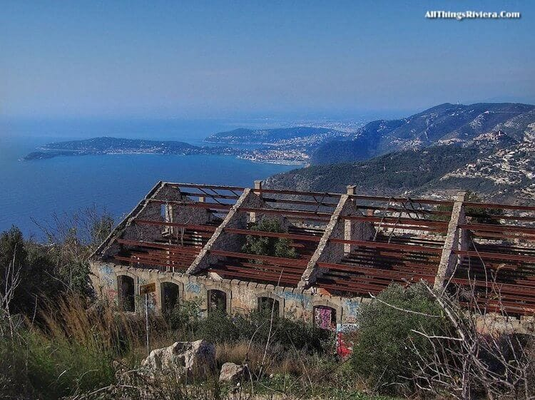 """abandoned house seen on hike to summit of Tete de Chien"""