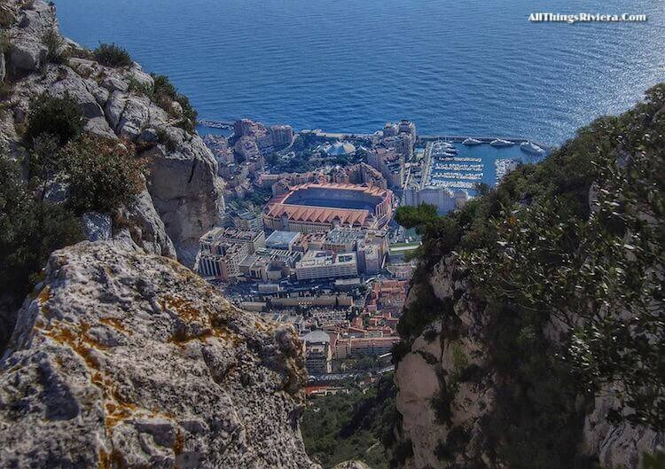 """view of Monaco from hike to summit of Tete de Chien"""