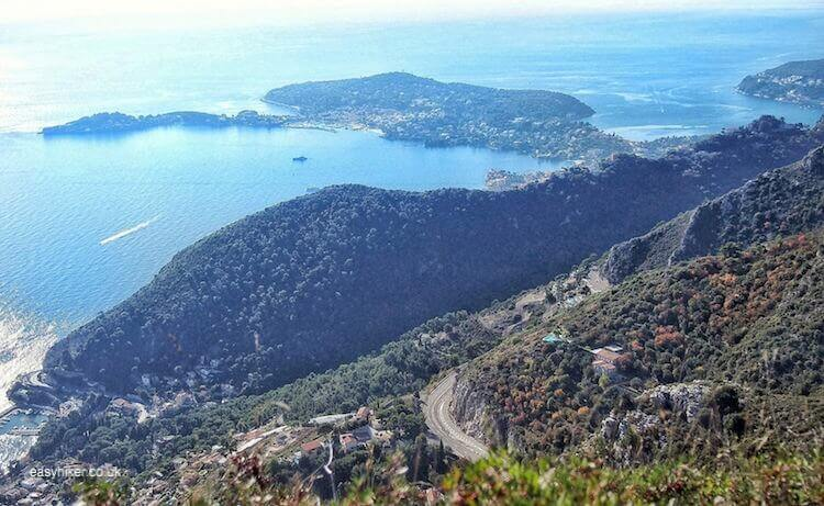 """The vista of the French Riviera - Eze Hiker Conquering the Peak in the Sequel"
