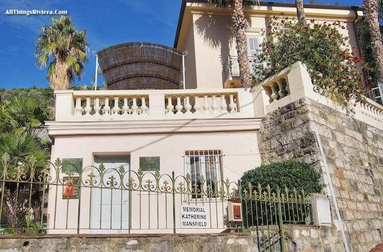 """former home of Katherine Mansfield - Great Writers in Menton and Monaco"""""