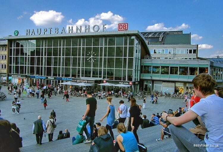 """Cologne Central Station - Europe by Rail Indispensable Train Travel Companion"""