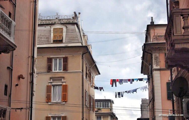 """""""Laundry hanging in the air in Sampierdarena"""""""