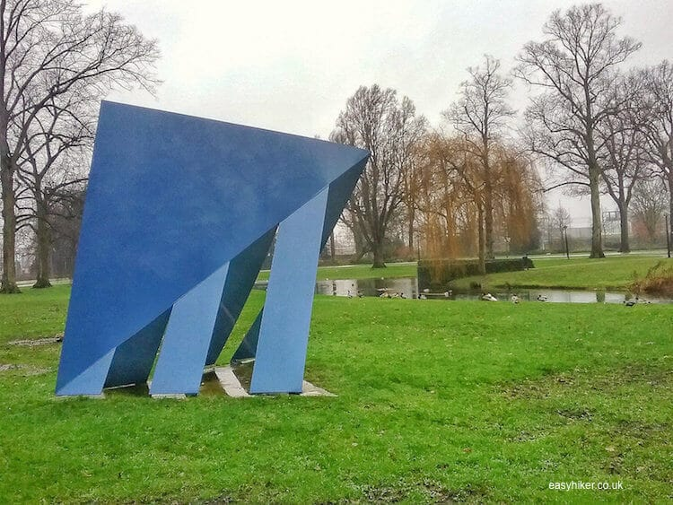 """modern art installation inside Vokspark Enschede - brighten up Dutch Midwinter Blues"""