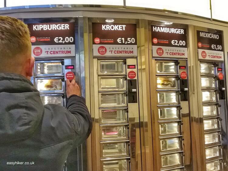 """burger vending machine - brighten up Dutch Midwinter Blues"""