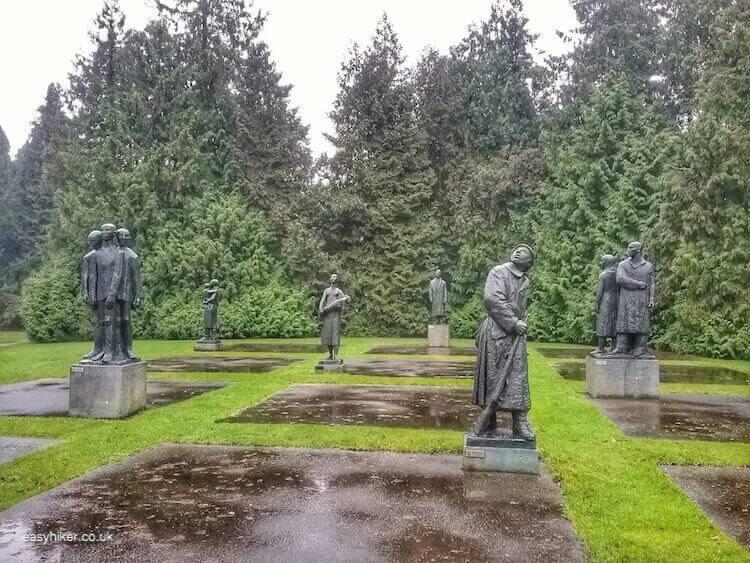 """memorial statues inside Volkspark Enschede - brighten up Dutch Midwinter Blues"""